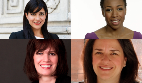 Clockwise from top left: Reshma Saujani, Tiffany Dufu, Judith Rosenthal, Kelly Hoey.